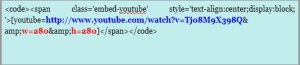 kode HTML pasang video youtube di blog wordpress