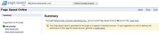 cara ngecek kecepatan loading blog website